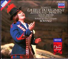 DONIZETTI: LA FILLE DU REGIMENT Luciano PAVAROTTI Joan SUTHERLAND BONYNGE 2CD