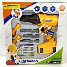 "CraftsMan Depot Fun Kids Electric Drill Construction Play set ""New"""