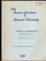 The Cosmic Frontiers of General Relativity by William J. Kaufmann, III (PB 1975)