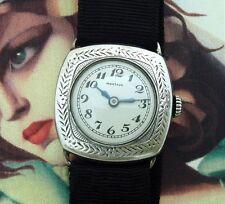 ORIGINAL Antique Victorian/Art Nouveau 1918 Sterling Wrist Watch w/Box -SERVICED