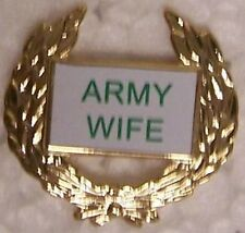 Hat Lapel Push Tie Tac Pin Army Wife NEW
