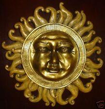 Celestial Sun Sculpture Wall Plaque Home Garden Decor