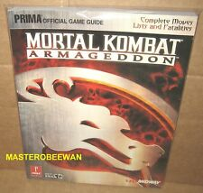 Mortal Kombat: Armageddon Official Strategy Guide Book PlayStation 2 PS2 New