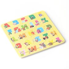 Wooden Educational Learning Child Kids Puzzle Jigsaw Toys ABC Alphabet Cartoon