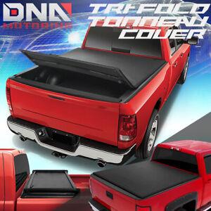 FOR 2017-2020 NISSAN TITAN 5'5 SHORT BED SOFT TOP FOLDING TRI-FOLD TONNEAU COVER