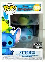 Funko Pop Disney Lilo & Stitch 986 STITCH WITH FROG Vinyl Figure EXCLUSIVE NEW