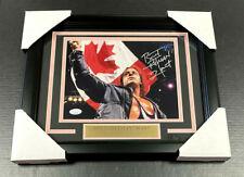 A1 BRET HITMAN HART WWE WWF FRAMED 8x10 SIGNED PHOTO AUTOGRAPHED JSA COA