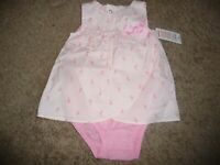 NEW NWT Carters girls size 12 months beautiful pink bunny sundress
