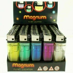 50x DISPOSABLE LIGHTERS Adjustable Flame Child Safety Resistant Assorted Colours