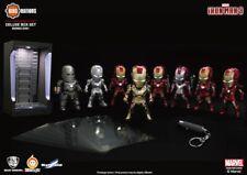 "IRON MAN Kids Nation Figure DX01 3"" LED Plugy Mini Figure - Set of 8 + Bonus"