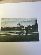 1900's Old Postcard Boys Lake Central Park Beth-El New York City Historical
