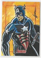 Captain America Marvel Greatest Heroes Avengers Sketch Card Alcione da Silva 1/1