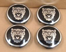 Jaguar Black Wheel Badge Growler Center Cap Set Of 4 C2C30081