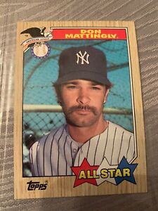 1987 topps don mattingly all star error card double mustache and period at end