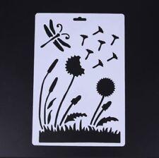 Dragonfly & ROCCA stencil, decorazione, scrapbooking, Bordo, PITTURA, arte