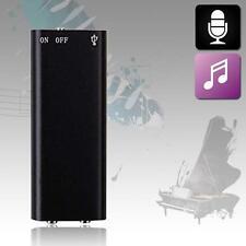 8GB Spy Bug Micro Digital Voice Sound Recorder + MP3 Player MUSIC Headphone UP