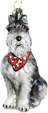 Schnauzer with red bandana glass dog ornament by Joy To The World Zkp1719B