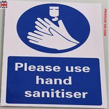 Safety Sign Use Hands Sanitiser Sticker Shop Salon Business Social Distancing UK