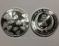 """SILVERBUGS FACEBOOK Group 1 oz 999 Silver Round Coin V3 """"Real Money"""""""