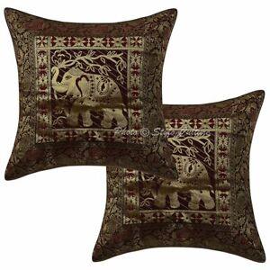 Indian Living Room Sofa Cushion Covers 40x40 cm Brocade Jacquard Pillowcases