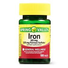 New Spring Valley Iron Supplement Tablets 65 mg 100 Ct