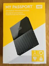 Disco duro PORTATIL - WD My Passport 1TB - Negro WESTERN DIGITAL NUEVO