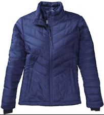 NWT COLUMBIA WOMENS MIGHTY MORNING LIGHT II JACKET 3X NAVY OMNIHEAT VERY WARM