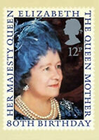 4 AUGUST 1980 QUEEN MOTHER 80th BIRTHDAY SINGLE PHQ CARD 45 MINT / UNUSED