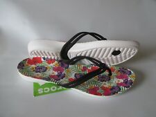 Crocs Isabella Graphic Flip Sandals Women's Size 9 Black/Floral FREE US SHIP NWT