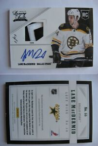 2012-13 Panini Luxury Suite #55 Lane MacDermid 1/1  RC patch auto  bruins 1 of 1