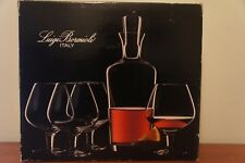Luigi Bormioli Cognac Gift Set Two Glasses & Decanter Only Missing Stopper New