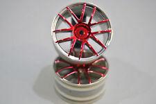 02018PR Par Círculos Conducir Círculo Cromado Rojo 1/10 Himoto/RUEDAS LLANTAS