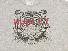 Hurley Juniors Women's M Grey heather long sleeve top t shirt Logo NWT^^