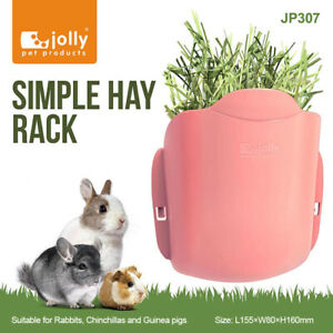 Jolly Design-New Pink Simple Hay Rack for Rabbits, Chinchillas, Guinea Pigs Cage