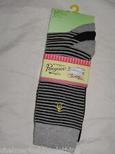 BNWT -  ORIGINAL PENGUIN Mens Striped Socks  -  Black & Grey    3 Pairs