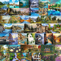 Digital Oil Painting By Numbers Kit DIY River Course Hand Painted Picture Craft