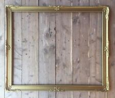 """Vintage Beautiful Ornate Frame Wood Gold Lovely Detail Fits 26"""" X 32"""" Fancy"""