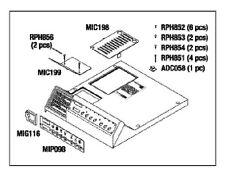 Ritter Midmark M9 Top Cover Kit, RPI Part #MIK196  OEM Part #002-0356-00