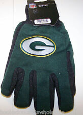 Green Bay Packers NFL Logo Two Tone Utility Garden Game Gloves