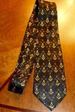 New Black Neck Tie Mason Symbol Fraternal Organization Steven Harris  #2206