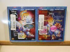 Cinderella Blu-ray/DVD LOT Diamond Edition & Dreams Come True/A Twist in Time