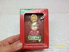 American Greetings Forget Me Not TO A DEAR SISTER AT CHRISTMAS 1996 ORNAMENT