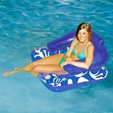 Lazy Pool Lounger Float Inflatable Water Chair Beach Large Back Rest Cup Holders
