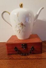 NEW Edelstein Aurora pattern china coffee pot with gold trim, Bavaria