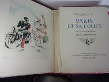 PARIS ET SA POLICE Léo Larguier 40 pointes sèches originales de René Zimmermann