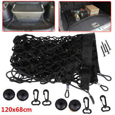 120x58cm Car SUV Rear Trunk Boot Floor Cargo Net Elastic Mesh Storage Fixed Set