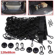 120x58cm Car SUV Rear Trunk Boot Floor Cargo Net Elastic Mesh Storage Fixed Set