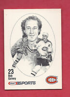 RARE 1986 CANADIENS BOB GAINEY  KRAFT FOOD  CARD