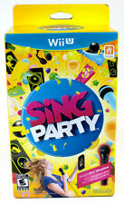 New Unopened Wii U Sing Party Video Game Set with Wii U Microphone