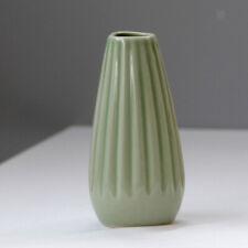 Home Garden Ceramic Mini Vase Stripe Planter Pot Ornaments Decor Decoration